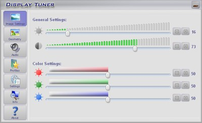 Click to view Display Tuner 1.7 screenshot
