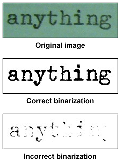 Binarization sample
