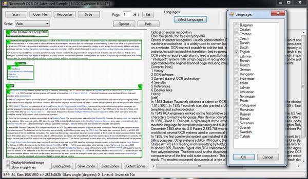 Nicomsoft OCR Sample
